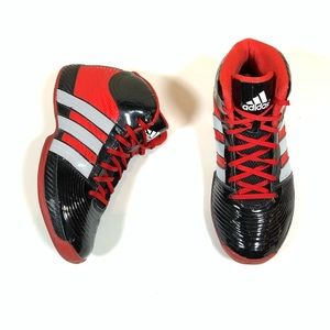 Adidas Basketball Shoes Black & Red Shoes VGC